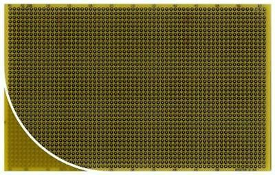 RE200-DSPT, Double Sided Eurocard PCB FR4 with 38 x 61 1.11mm Holes, 2.54 x 2.54