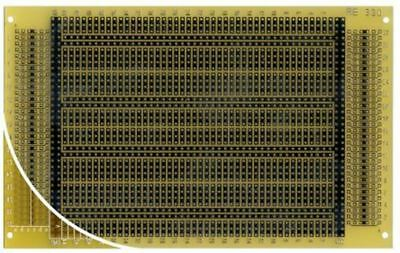 RE330-LF, Single Sided DIN 41612 C Eurocard PCB FR4 with 36 x 44 1mm Holes, 2.54