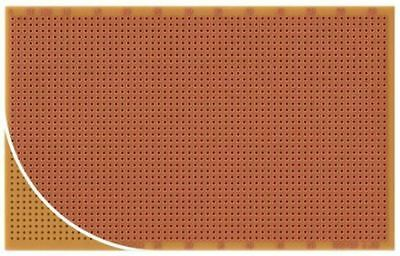RE100-HP, Single Sided Eurocard PCB FR2 with 37 x 56 1mm Holes, 2.5 x 2.5mm Pitc