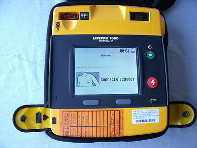 Physio Control Lifepak 1000 AED / TESTED! B13