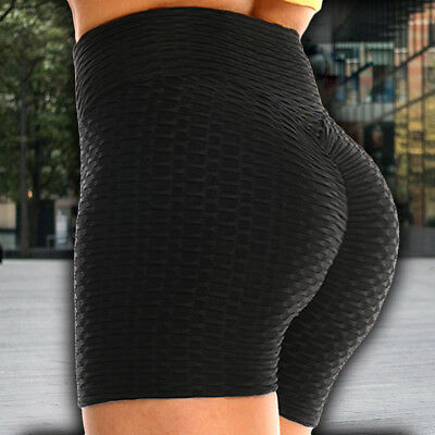 Summer Women Sports Shorts Gym Workout Waistband Skinny Fitness Yoga Short Pants