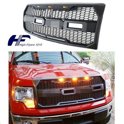 For 2009-2014 Ford F150 Front Grill Raptor Style Conversion F&R Letter LED GRAY