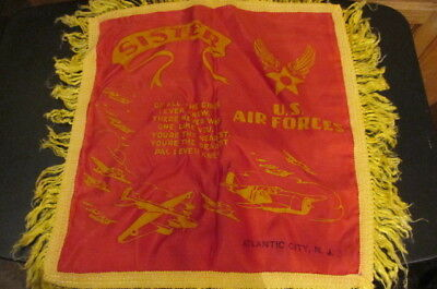 WWII Sister U.S. Air Force Satin Pillow Case Cover Sham Atlantic City