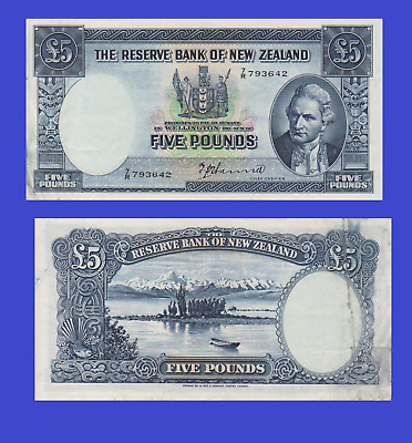 New Zealand 5 pound 1940 UNC - Reproduction