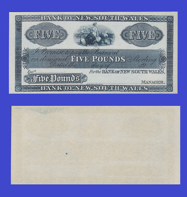 New Zealand 5 pound 1890 UNC - Reproduction