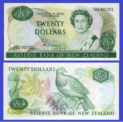 New Zealand 20 dollars 1981 UNC - Reproduction