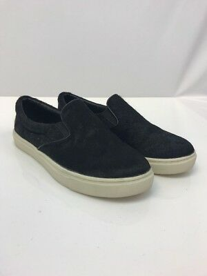 f0a9164e9b6 STEVE MADDEN WOMEN'S Black Ecentric Pony Hair Slip On Shoes Sz 6.5 B