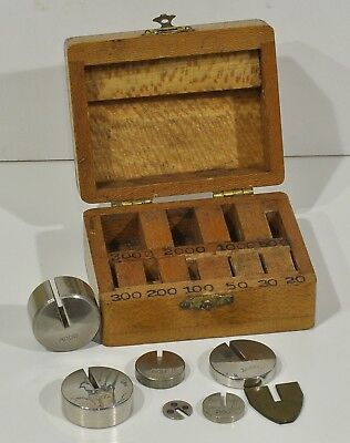 Vintage Hook Weights Set with Maple Box
