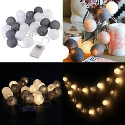 Weiß COTTON 10 Lichterkette BALL er LIGHTS Grau Schwarz 3SAqcR54jL