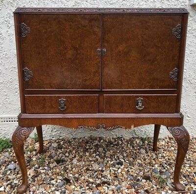 Antique Queen Anne Style Cocktail Cabinet
