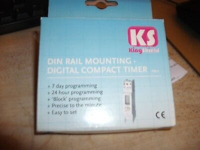 KS T80-C Din rail mounting, Digital compact timer 7 Day/ 24 hr. Easy to set
