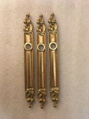 Lot #322 Brass French Door Back Plates Antique Ornate