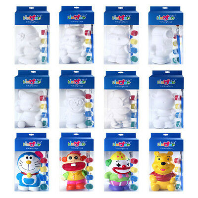 Paint Your Own Figurines Plaster Animal Flowers House Kids Art Fun Toy