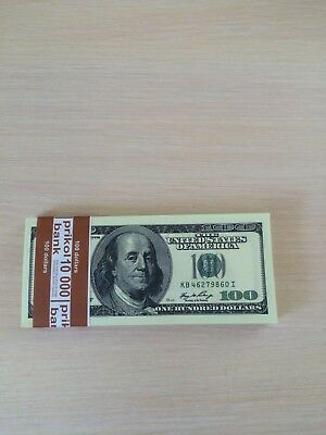 PROP MONEY Real Looking  OLD STYLE $100s FULL PRINT Stack Double-Sided Printing