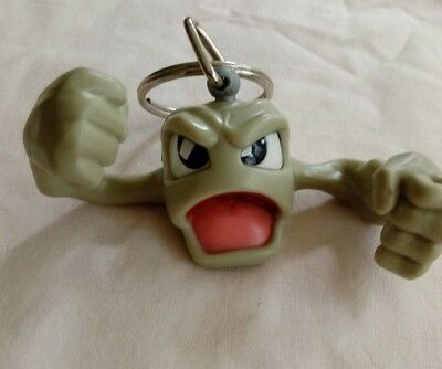 1999 Burger King Kids' Meal Toy Pokemon Movie Geodude Key Chain