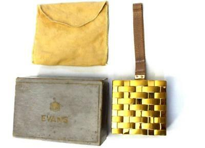 Evans lighter Compact & Cigarette Case Minaudiere Purse Carryall  in Orig. Box