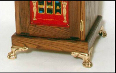 Solid brass feet for Antique slot machine stand or antique cabinet set of 4 feet
