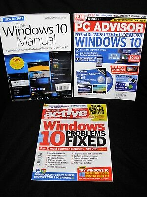 Windows 10 Manual Vol 9/PC Advisor Issue 242 Mag/Computer Active Issue 457 Mag.