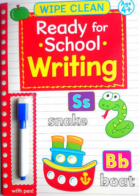 NEW Wipe Clean WRITING 1 Book with PEN Age 4+ Ready for School Learning 2018