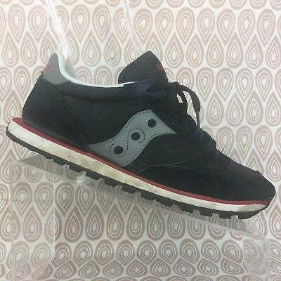 finest selection 27ccb c8be5 SAUCONY JAZZ WOMEN'S Black Gray Red Original Sneakers Size 8 S577