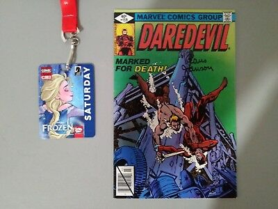 Daredevil#159... Signed By Klaus Janson At C2E2...in Vf Or Better Condition