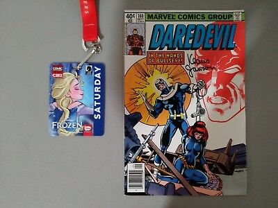 Daredevil#160... Signed By Klaus Janson At C2E2...in Vf Or Better Condition