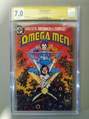 OMEGA MAN #3 CGC SS...  GRADED 7.0 ..SIGNED BY  KEITH GIFFEN...1st LOBO.....