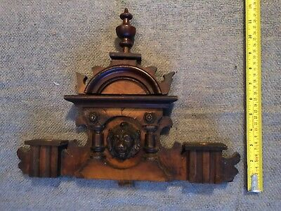 Original Antique Carved Clock Pelmet