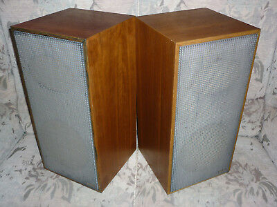 pair of 2 way speakers SABA IIa 2a for tube amps 25watt 4 ohm worldwide shipping