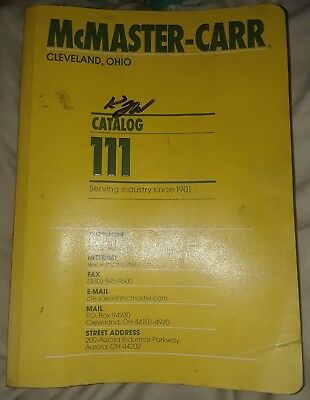 MCMASTER-CARR Industrial Supply CATALOG No. 111 Used Cleveland,  Ohio