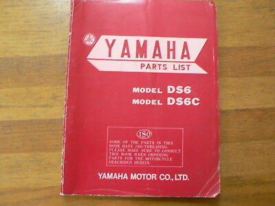 Yamaha Parts List Ds6 And Ds6C 1969 Motorrad Bike Motorcycle 250Cc