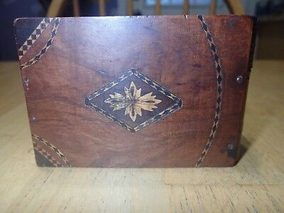 Antique Wooden Box Beautifully Inlaid