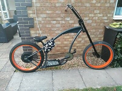 RUFF CYCLES ELECTRIC cruiser - Hard time XL with 500w motor lowrider bobber