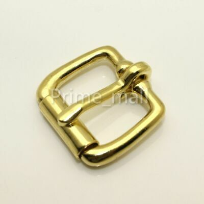 "Solid Brass 3/4"" End Bar Roller Belt Buckle Single Prong Single Tongue"