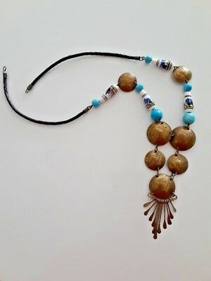 Peruvian Hand Crafted Ethnic Llama Theme Necklace