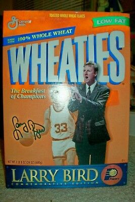 Vintage 1991 Unoopened Box of Wheaties with Larry Bird on the Box