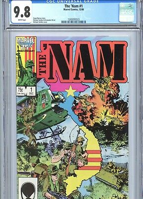 The 'Nam #1 CGC 9.8 White Pages Michael Golden Cover Marvel Comics 1986