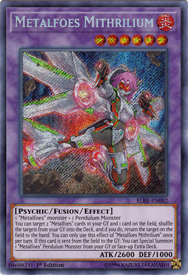Yugioh! Metalfoes Mithrilium - BLRR-EN082 - Secret Rare - 1st Edition Near Mint,