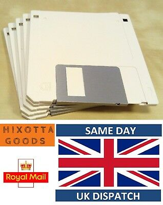 """500 x HD 2MB/1.44MB 3.5"""" F Disk 2HD DS-HD Floppy Disc Unformatted White"""