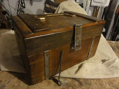 """Vintage handcrafted wooden tool chest with drawer (101/2"""" D x 17"""" W x 10 1/2 """" H"""