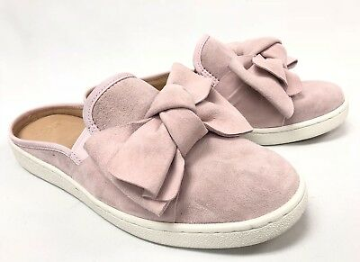 662857df00a UGG AUSTRALIA LUCI Bow Seashell Pink Mules Shoes Slip On 1092515 Women's  Suede