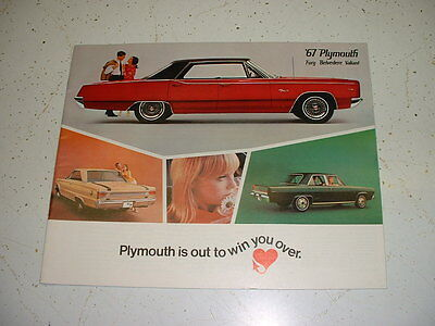 1967 Plymouth Advertising Brochure Literature GTX Belvedere Satellite Valiant