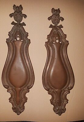 Ornate Victorian Bronze Matched Pair (2) Entry Door Plates