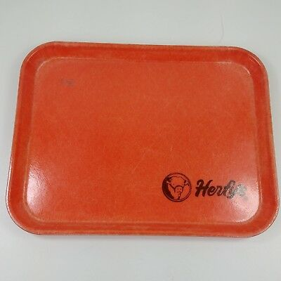 ic 1975 Herfy's Promotion Drive In Burgers Dine In Tray Fast Food Orange Camtray