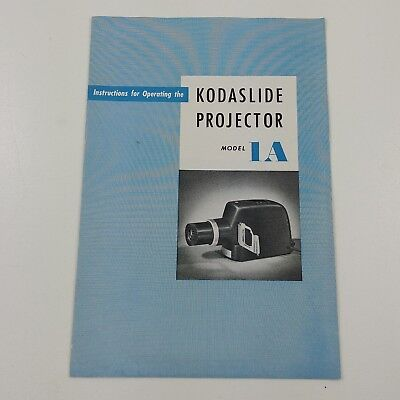 sa Vintage Kodak Kodaslide Projector Model 1A - INSTRUCTIONAL BOOKLET ONLY