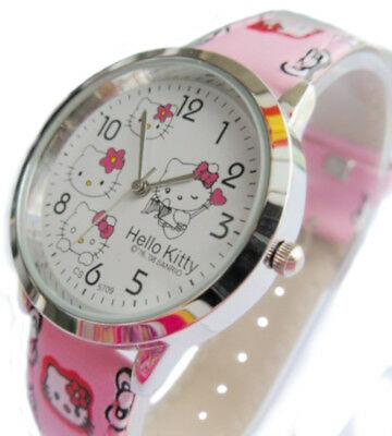 Hello Kitty Style Light Pink Fashion Girls Woman Watch Water Resistant, HKW-1