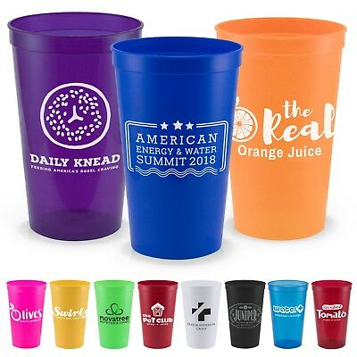 500 Custom Imprinted 22 oz Stadium Cups