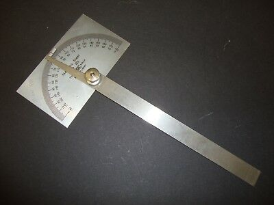 Stainless Steel # 183 Protractor Excellent