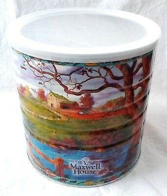 Vintage Maxwell House Coffee Can Fall Series 2005