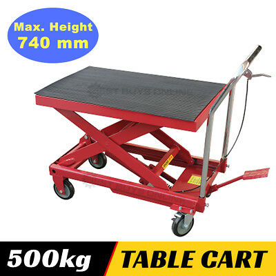 Hydraulic Table Cart Scissor Lift 500 kg Capacity Workshop Tool